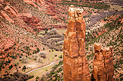 Spider Rock, Canyon de Chelly National Monument, Arizona USA