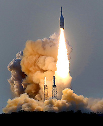 The Orion test-capsule lifts off during the Ascent Abort-2 launch at Cape Canaveral Air Force Station, FL, USA, on Tuesday, July 2, 2019. NASA launched the capsule to demonstrate the abort tower, designed to ferry astronauts to safety in the event of a launch failure. Orion will be NASA's first vehicle since the space shuttle to carry astronauts, with plans for crewed missions to the moon and Mars. Photo by Joe Burbank/Orlando Sentinel/TNS/ABACAPRESS.COM
