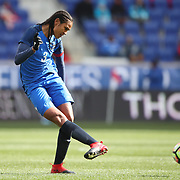HARRISON, NEW JERSEY- MARCH 4:  Wendie Renard #3 of France in action during the France Vs Germany SheBelieves Cup International match at Red Bull Arena on March 4, 2017 in Harrison, New Jersey. (Photo by Tim Clayton/Corbis via Getty Images)