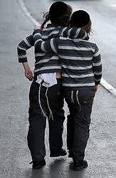 Jerusalem - May 4th,  2008 --Two Jewish boys walk along he path in the  Meah Sharim area of  Jerusalem , May 4th, 2008. Picture by Andrew Parsons / i-Images