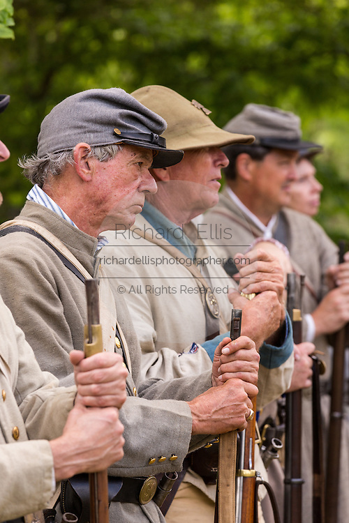 Civil War re-enactors stand at during Confederate Memorial Day events at Magnolia Cemetery April 10, 2014 in Charleston, SC. Confederate Memorial Day honors the approximately 258,000 Confederate soldiers that died in the American Civil War.