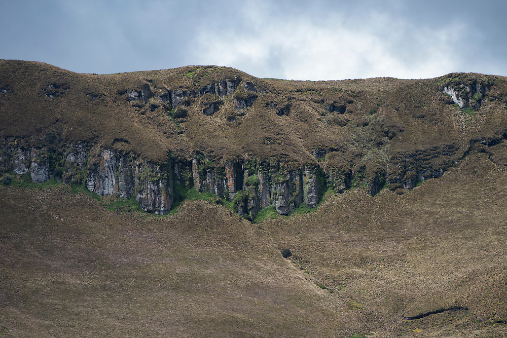 Cliffs of Cordillera Real, Andes<br /> Condor Bioreserve as part of the Antisana Ecological Reserve<br /> ECUADOR, South America<br /> Last erupted between 1801 and 1802