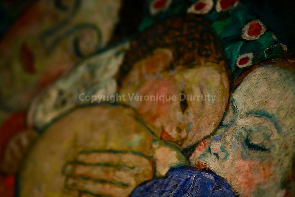 Gustav Klimt, Tod und Leben, 1910 1911 ( death and Life ) , Leopold Museum, Vienna, Austria - detail // Gustav Klimt, Tod und Leben, 1910 1911 ( La mort et la vie ) , Musee Leopold, Vienne, Autriche - detail