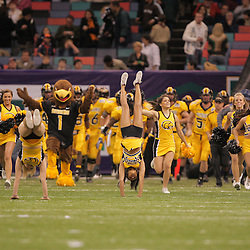 21 December 2008:  Southern Miss takes to the field prior to kickoff of the R+L Carriers New Orleans Bowl between the Southern Mississippi Golden Eagles and the Troy Trojans at the New Orleans Superdome in New Orleans, LA.