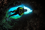 Cave diving Comino Island