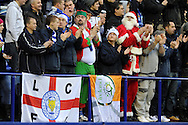 Leicester's Santa and his elf's applaud their team.  NPower championship, Leicester city v Cardiff city at the King Power stadium in Leicester on Saturday 22nd Dec 2012. pic by Andrew Orchard, Andrew Orchard sports photography,