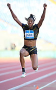 Lorraine Ugen (GBR) places 12th in the women's long jump at 20-5 1/4 (6.23m) during the 39th Golden Gala Pietro Menena in an IAAF Diamond League meet at Stadio Olimpico in Rome on Thursday, June 6, 2019. (Jiro Mochizuki/Image of Sport)