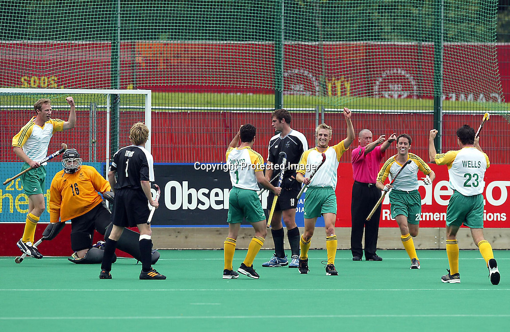 4th August 2002, Belle Vue Hockey Complex. Men's Hockey Final. New Zealand v Australia. Commonwealth Games Manchester England. <br />