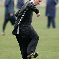 St Johnstone training...14.12.04<br />Chris Hay gets in some shooting practice<br /><br />Picture by Graeme Hart.<br />Copyright Perthshire Picture Agency<br />Tel: 01738 623350  Mobile: 07990 594431