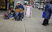 2017 MARCH 05 - Homeless at 3rd and Pine, Seattle, WA, USA. By Richard Walker