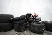 January 27-31, 2016: Daytona 24 hour: A mechanic sleeps during the Daytona 24