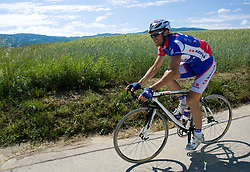 Uros Murn of Adria Mobil at route of 4th stage of Tour de Slovenie 2009, on May 28, 2009, in Sentjernej, Slovenia. (Photo by Vid Ponikvar / Sportida)
