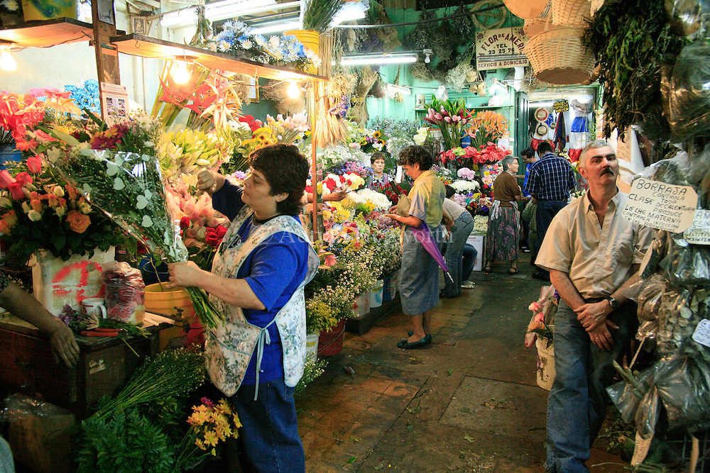 Flowers on sale at Central Market, San Jose, Costa Rica.<br />