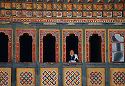 Man at Tashichho Dzong, the Government, Royal Palace and Religious Centre, Thimpu, Bhutan