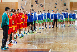 Players of Slovenia and players of Montenegro during friendly match between Slovenia and Montenegro in Skofja Loka, Slovenia on 8th of June, 2017 .Photo by Grega Valancic / Sportida