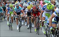 Sykkel<br /> Foto: PhotoNews/Digitalsport<br /> NORWAY ONLY<br /> <br /> SERAING, BELGIUM - JULY 1: Cadel Evans - Edvald Boasson Hagen - Tony Martin - Jurgen Van den Broeck  - Peter Sagan from Liquigas team in action during 1th stage of the Tour de France from Liege to Seraing (198 kms) on July 1, 2012 in Seraing, Belgium