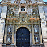 Lima Cathedral&rsquo;s Door of Forgiveness in Lima, Peru <br />