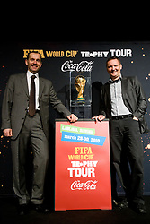 and Tomaz Ambrozic at VIP reception of FIFA World Cup Trophy Tour by Coca-Cola, on March 29, 2010, in BTC City, Ljubljana, Slovenia.  (Photo by Vid Ponikvar / Sportida)