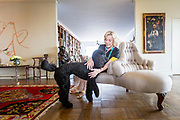 "American feminist and writer Erica Jong in her apartment with her poodle Colette. Erica Jong has just finished her follow-up to her success ""Fear of Flying"". Her new book, ""Fear of Dying"" takes on age and sexuality."
