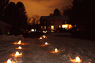 Here's who we saw during the Holiday stroll and luminaria walk from Forest Field Park, through the meadows, and at the historic Smith home (seen here) in Bill Yeck Park, Friday, December 17, 2010.