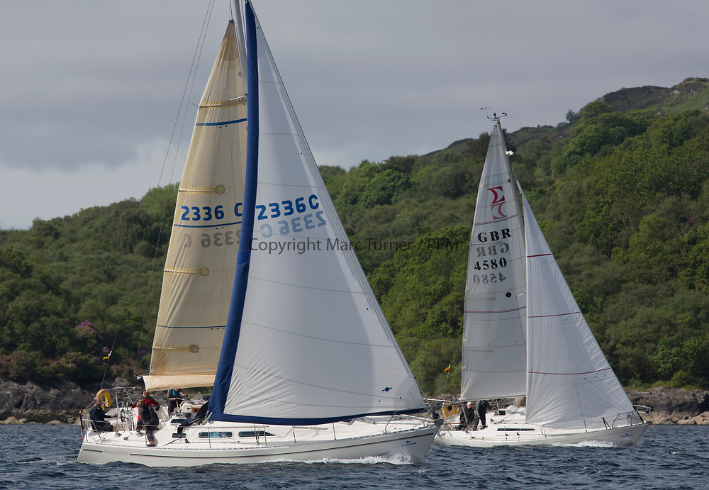 Silvers Marine Scottish Series 2017<br /> Tarbert Loch Fyne - Sailing Day 3<br /> <br /> 2336C, Shearwater, Garth and Erica Wilson, Fairlie Yacht Club, Moody 336