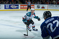KELOWNA, CANADA - FEBRUARY 12: Conner Bruggen-Cate #20 of the Kelowna Rockets skates against the Victoria Royals  on February 12, 2018 at Prospera Place in Kelowna, British Columbia, Canada.  (Photo by Marissa Baecker/Shoot the Breeze)  *** Local Caption ***