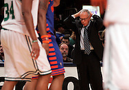 Larry Brown coach of the New York Knicks reacts to a call in the game against the Boston Celtics at Madison Square Garden in New York City. Sunday 04 December 2005 The Knicks won the game 102-99 Photo by Andrew Gombert for the New York Times