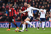 Erik Lamela (11) of Tottenham Hotspur on the attack during the Premier League match between Bournemouth and Tottenham Hotspur at the Vitality Stadium, Bournemouth, England on 11 March 2018. Picture by Graham Hunt.