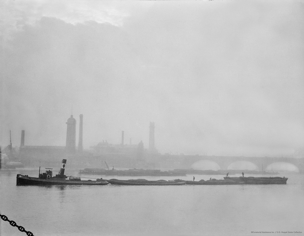 River Thames, London, England, 1910