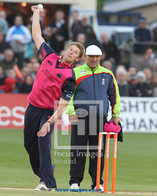 Picture by Paul Terry/Focus Images Ltd. 07545642257.22/06/12.Olli Rayner (L) of Middlesex Panthers during the Friends Life T20 match at the PROBIZ County Ground, Hove.
