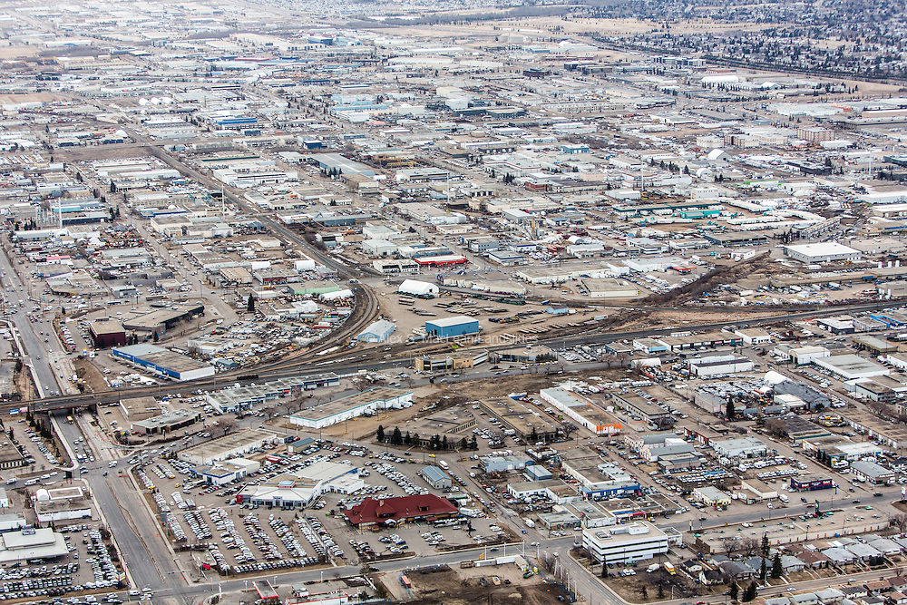 Edmonton, Canada: A booming industrial sector for supporting tar sands exploration and mining equipment.