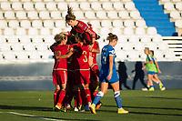 Spain's Marta Torrejon, Leila Ouahabi  and Veronica Boquete during the match of  European Women's Championship 2017 at Leganes, between Spain and Finland. September 20, 2016. (ALTERPHOTOS/Rodrigo Jimenez)