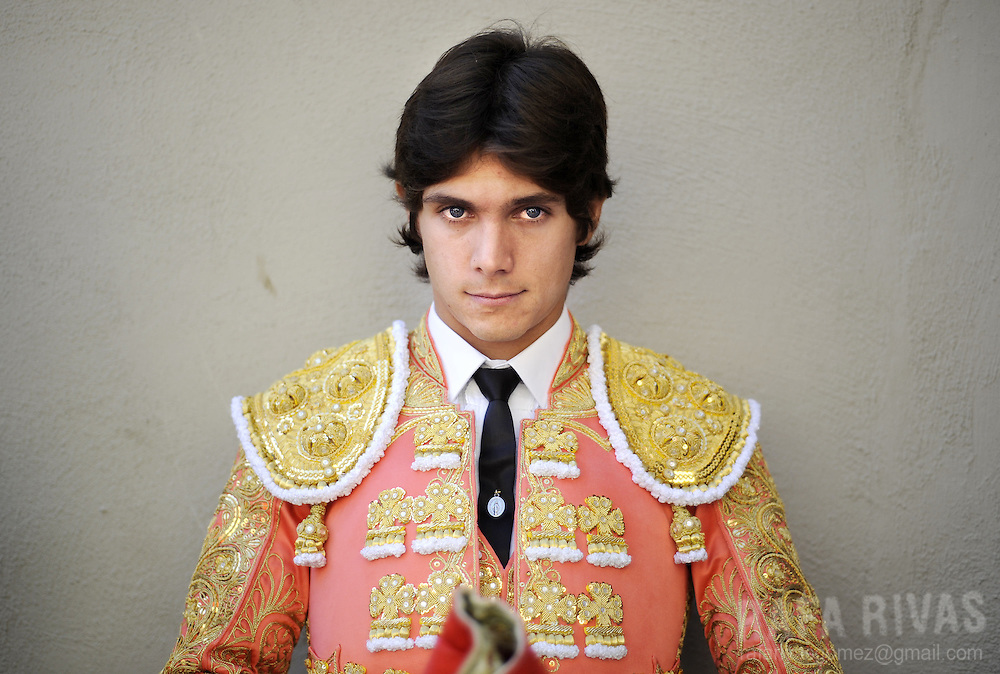 French matador Sebastian Castella poses prior fighting his two Fuente Ymbro fighting bulls, during the third corrida of the San Fermin festivities, on July 9, 2008, in Pamplona, north of Spain.