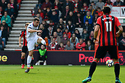 James McArthur (18) of Crystal Palace shoots at goal during the Premier League match between Bournemouth and Crystal Palace at the Vitality Stadium, Bournemouth, England on 7 April 2018. Picture by Graham Hunt.