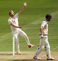 Durham's Paul Collingwood bowls - Photo mandatory by-line: Robbie Stephenson/JMP - Mobile: 07966 386802 - 03/05/2015 - SPORT - Football - London - Lords  - Middlesex CCC v Durham CCC - County Championship Division One