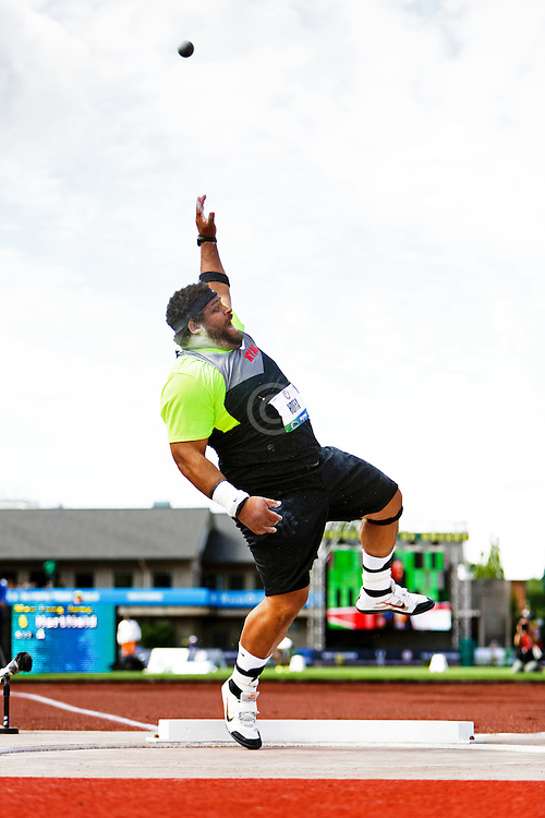 Olympic Trials Eugene 2012: mens shot put, Reese Hoffa,