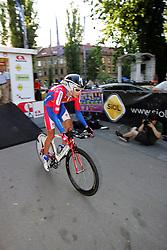 Nose Tomaz (SLO) of Adria Mobil at prologue (6,6km) of Tour de Slovenie 2011, on June 16 2011, in Ljubljana, Slovenia. (Photo by Urban Urbanc / Sportida)