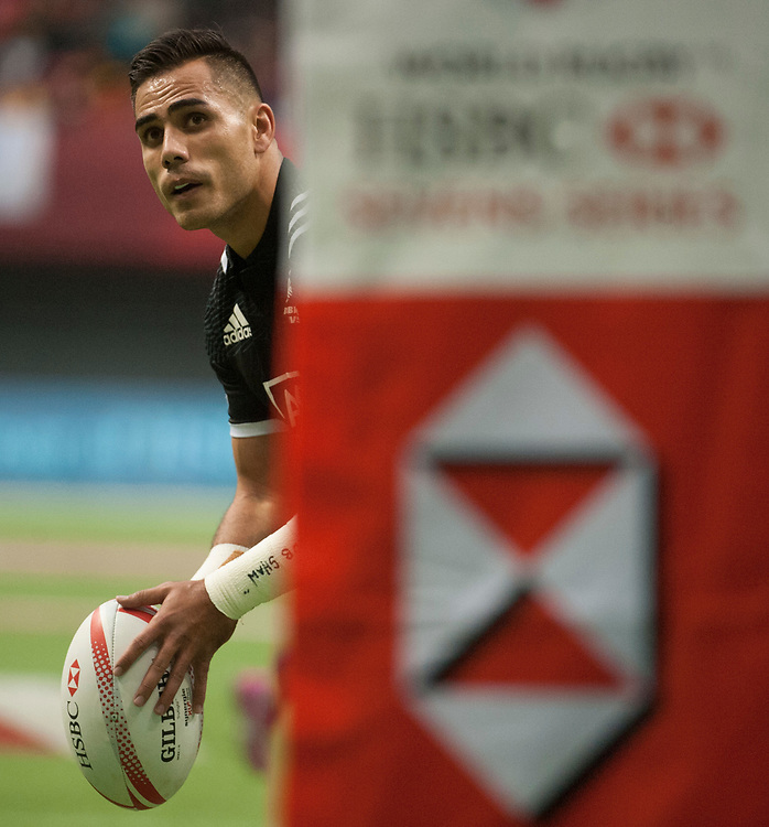 Beaudean Waaka scores a conversion  during the knockout stages of the Canada Sevens,  Round Six of the World Rugby HSBC Sevens Series in Vancouver, British Columbia, Sunday March 12, 2017. <br /> <br /> Jack Megaw.<br /> <br /> www.jackmegaw.com<br /> <br /> jack@jackmegaw.com<br /> @jackmegawphoto<br /> [US] +1 610.764.3094<br /> [UK] +44 07481 764811
