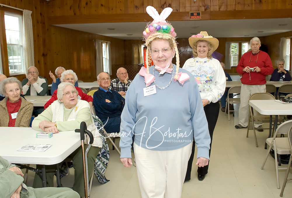 Laconia Elder Friendship Club's gathering for the Easter Hat Parade at Leavitt Park Clubhouse March 31, 2010.