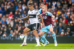 Aleksandar Mitrovic of Fulham takes on Ben Mee of Burnley - Mandatory by-line: Robbie Stephenson/JMP - 26/08/2018 - FOOTBALL - Craven Cottage - Fulham, England - Fulham v Burnley - Premier League