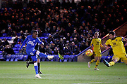 Peterborough United midfielder Siriki Dembele (10) scores his goal 2-1 Peterborough during the EFL Sky Bet League 1 match between Peterborough United and Oxford United at London Road, Peterborough, England on 8 December 2018.