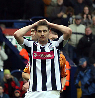 Photo: Mark Stephenson/Sportsbeat Images.<br /> West Bromwich Albion v Wolverhampton Wanderers. Coca Cola Championship. 25/11/2007.West Brom's Zoltan Gera carnt belive he has missed the penatly