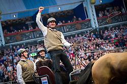 De Ronde Koos, NED, Bonusz, Celina, Joep, Oosterwijk's Kasper<br /> FEI World Cup Driving Leg presented by Dodson & Horrell<br /> Olympia Horse Show -London 2016<br /> © Hippo Foto - Jon Stroud<br /> 16/12/16