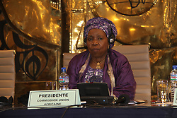 LOME, Oct. 15, 2016 (Xinhua) -- African Union (AU) Commission Chairperson Nkosazana Dlamini-Zuma attends the AU Extraordinary Summit on Maritime Security, Safety and Development in Africa in Lome, capital of Togo, Oct. 14, 2016. More efforts should be made to train women and make them part of the whole value chain of the blue economy, according to Nkosazana Dlamini-Zuma. (Xinhua/Zhang Gaiping)(zhs) (Credit Image: © Zhang Gaiping/Xinhua via ZUMA Wire)