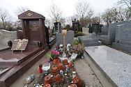 = killing of Ilan halimi , the tomb in the jewish area of pantin cemetery  PARIS  France  . + .assassinat de Ilan Hallimi , la tombe dans le carre juif du cimetiere de pantin  PARIS  France . +