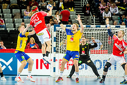 Jesper Nielsen (SWE) during handball match between National teams of Denmark and Sweden in Half Final match of Men's EHF EURO 2018, on January 26, 2018 in Arena Zagreb, Zagreb, Croatia. Photo by Ziga Zupan / Sportida