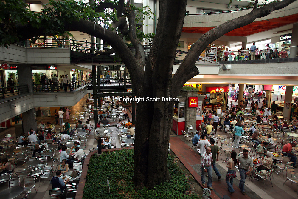 The food court in a shopping mall in an exclusive area of Medellin on Saturday, April 28, 2007. (Photo/Scott Dalton)