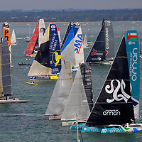 The start of The Fastnet Race,  Cowes Week, 2015, Isle of Wight, England,