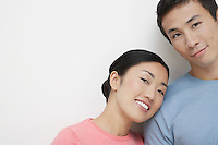 Woman Leaning Her Head on Boyfriend's Shoulder
