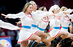 Cheerleaders Red Foxes perform during basketball match between National Teams of Italy and Serbia at Day 14 in Round of 16 of the FIBA EuroBasket 2017 at Sinan Erdem Dome in Istanbul, Turkey on September 13, 2017. Photo by Vid Ponikvar / Sportida
